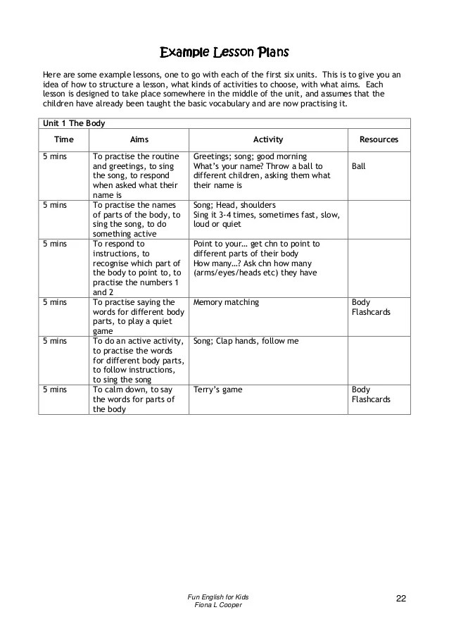 32 Best Unit Plan Lesson Plan Templates Images On Fun English For Kids Book For Teachers