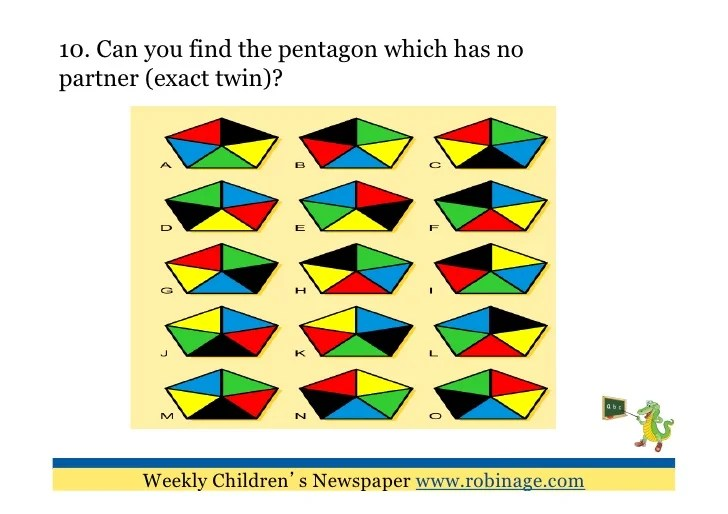 Fun Learning For Kids 10 Visual Puzzles