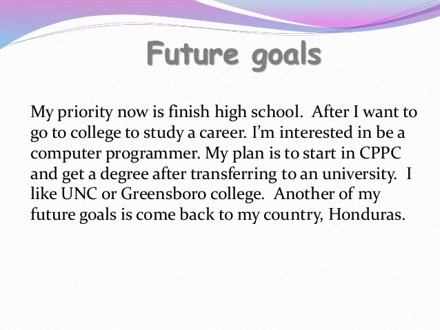 Essay On Future Goals After High School Mistyhamel