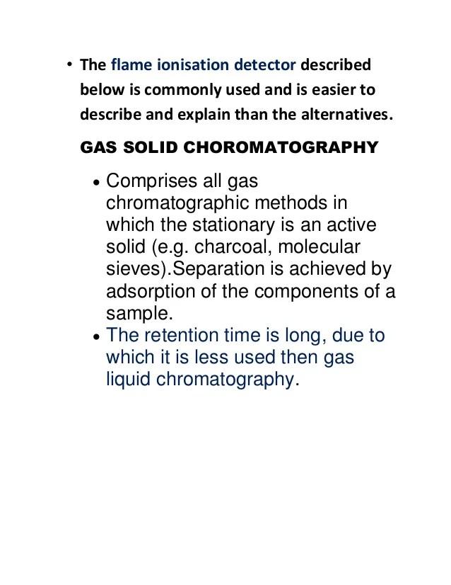 gas choromatography