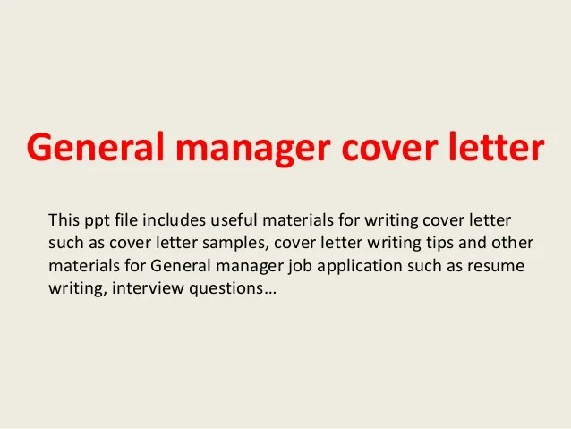 general cover letter for a job - Minimfagency