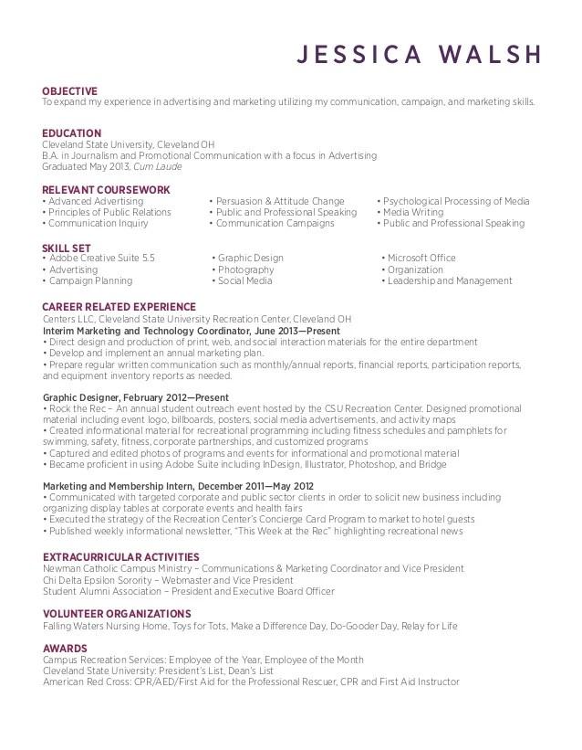 general resume tips