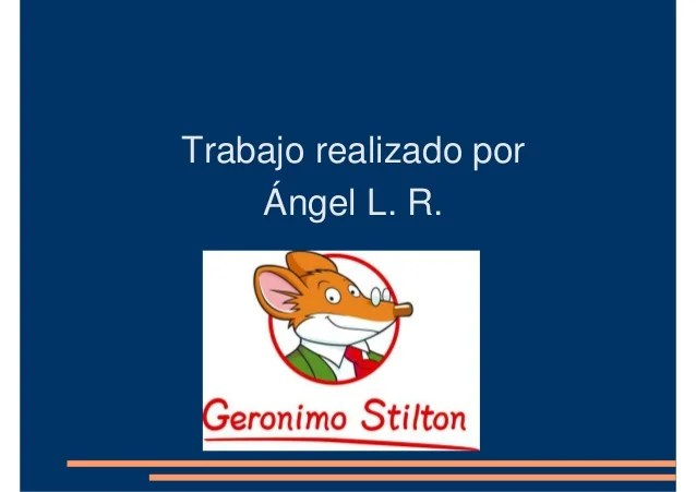Descargar Libros De Geronimo Stilton Geronimo Angel
