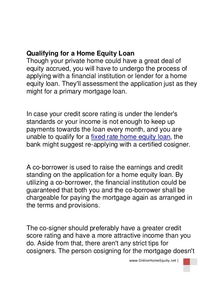 Home Equity Loan Approved with a Co-Borrower
