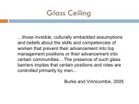 glass ceiling meaning