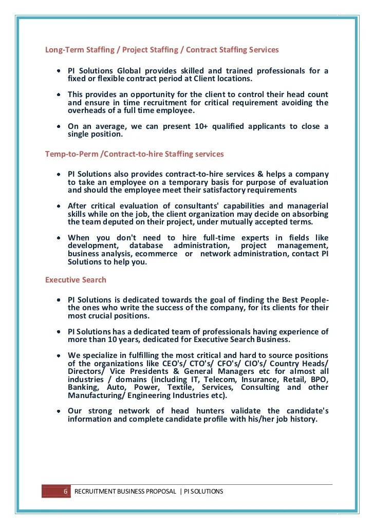 Sample Letter Termination Of A Fixed Term Contract Global Staffing Rpo Business Proposal