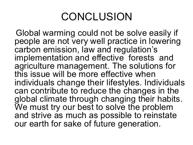 global warming essay conclusion - Trisa.moorddiner.co