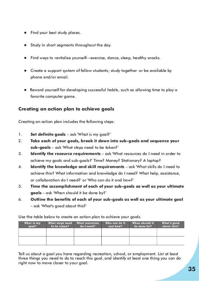 goal setting workshop handbook