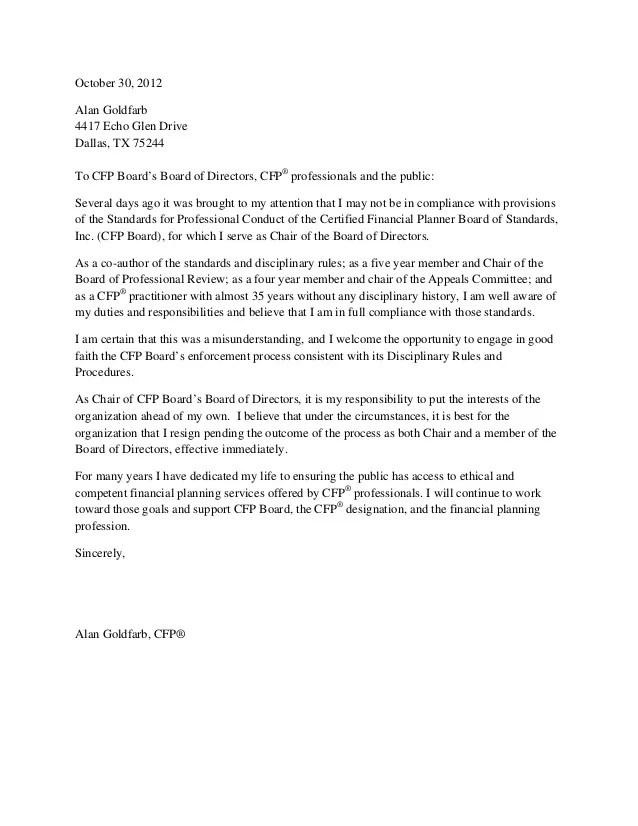 resignation from the board - Josemulinohouse