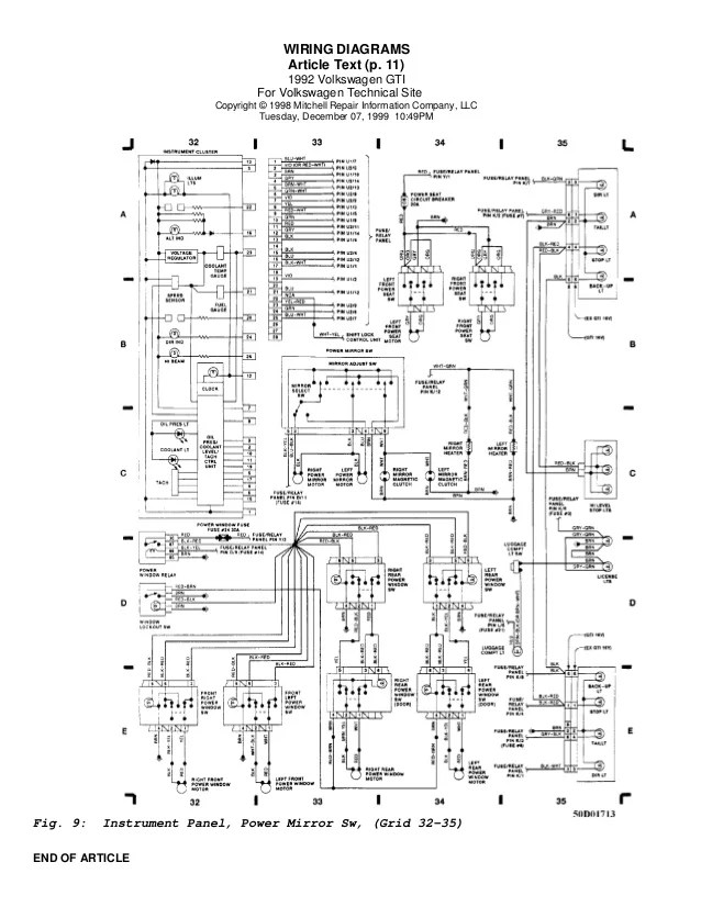 1997 jetta ignition switch wiring diagram