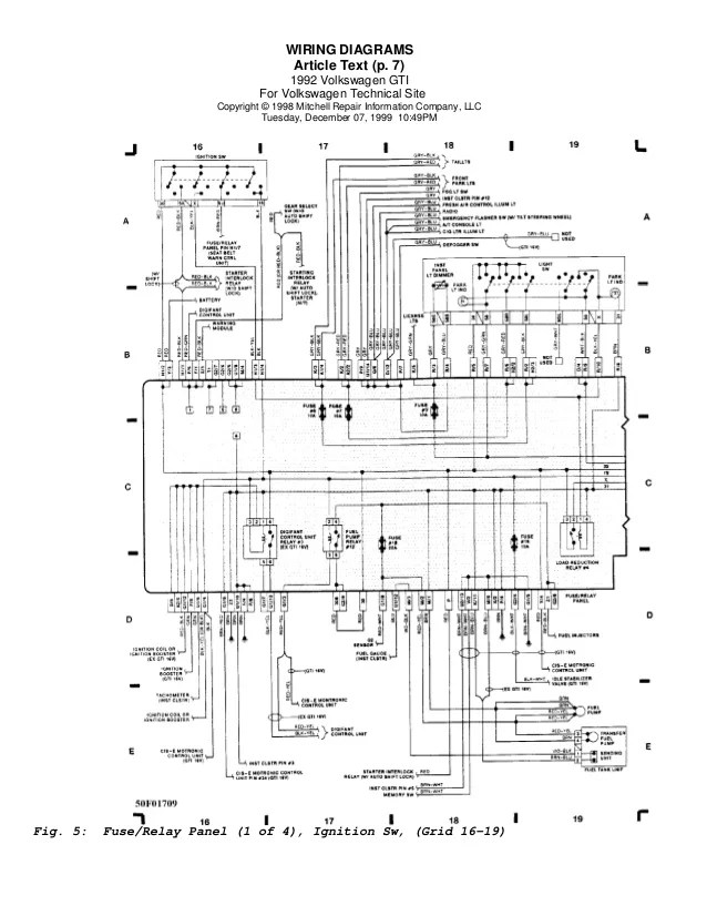vw golf mk4 fuse box diagram pdf