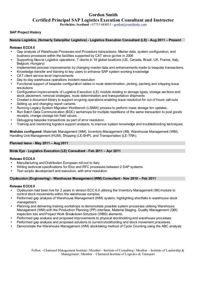 sap resume examples - Roho4senses - junior sap consultant resume