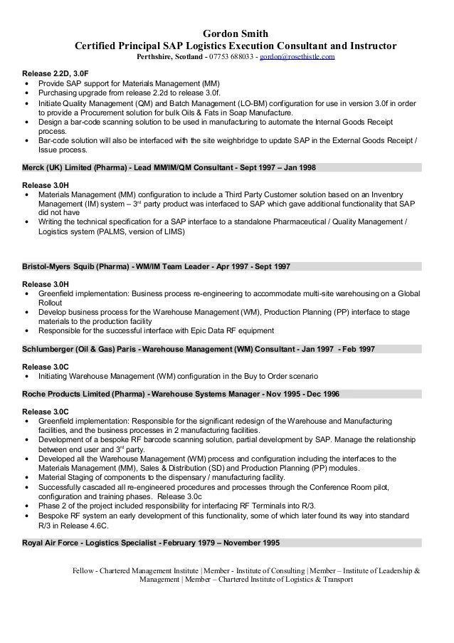 logistic advisor resume - Josemulinohouse