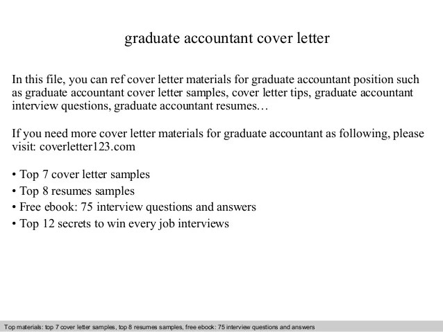 cover letter resume sample for accounting graduate - Pinar