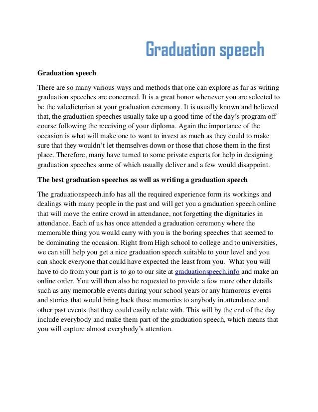 Speech Ideas For Middle School Graduation - speech topics ...