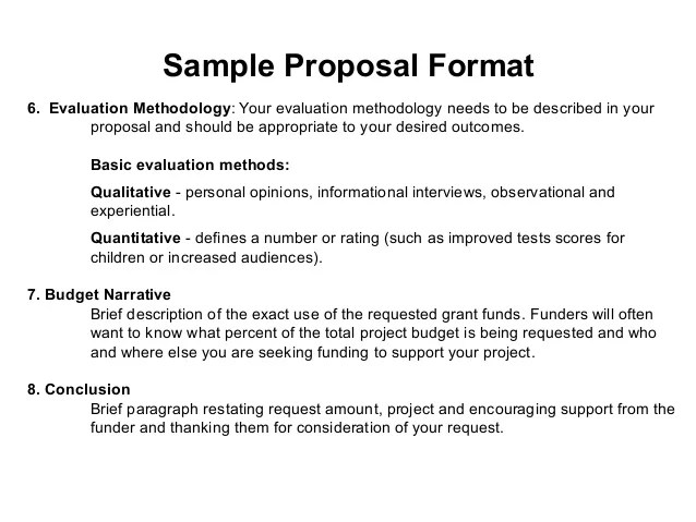 Project Proposal For Funding - Templates