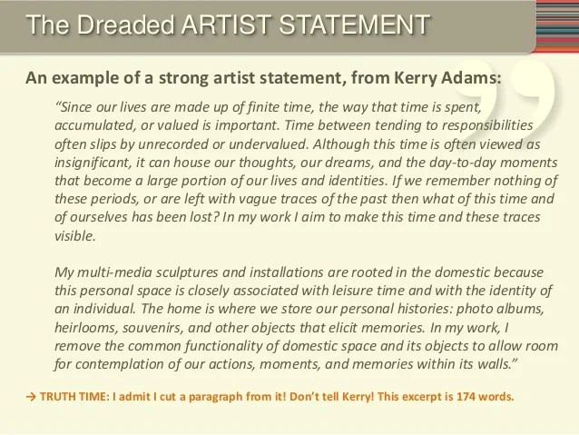 The Art Of Writing A Great Resume Summary Statement Writing A Great Grant 2014 Individual Artists