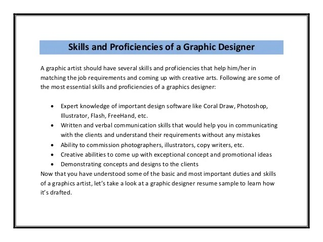 26 Best Graphic Design Resume Tips With Examples Graphic Designer Resume Sample Pdf