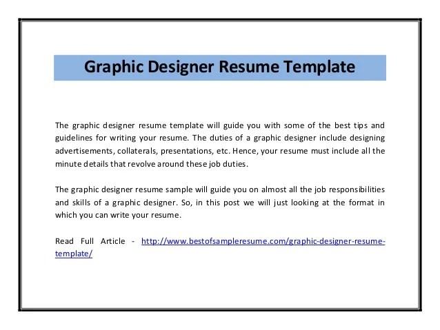 Resume Samples For Graphic Designer - Costumepartyrun - graphic artist resume sample