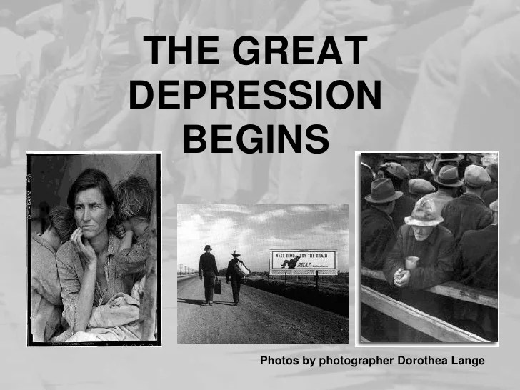 when did the great depression start
