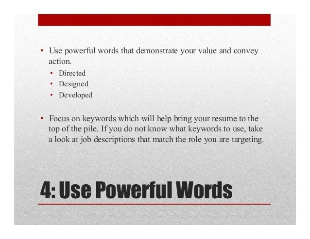 great words to use on a resumes - Josemulinohouse