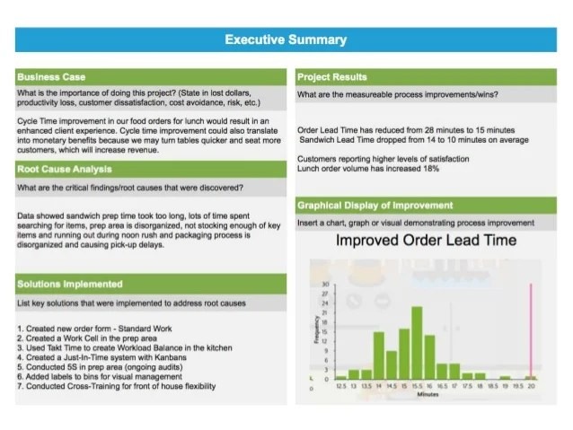 executive project summary template - Intoanysearch
