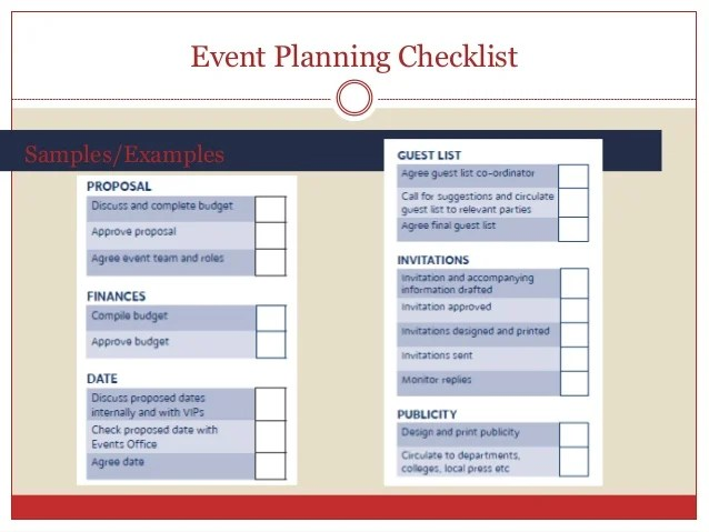 event planner checklist sample - Josemulinohouse