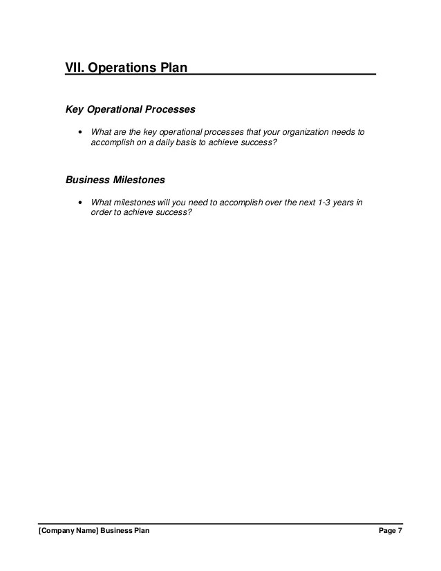 operations plan template free download - Romeolandinez - Operational Plan Template