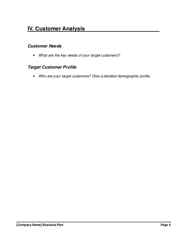 customer profile template free - Ukransoochi - Customer Profile Template