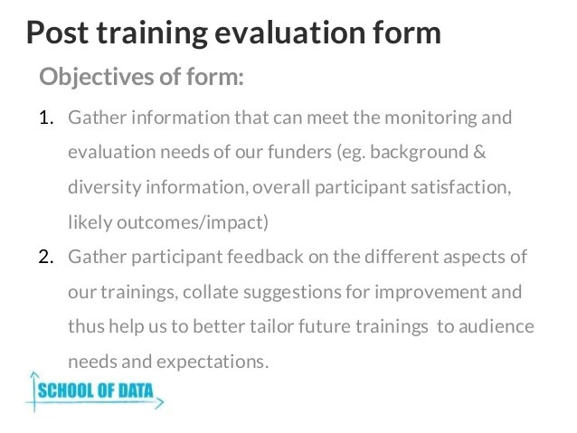 training evaluation forms template - Towerssconstruction