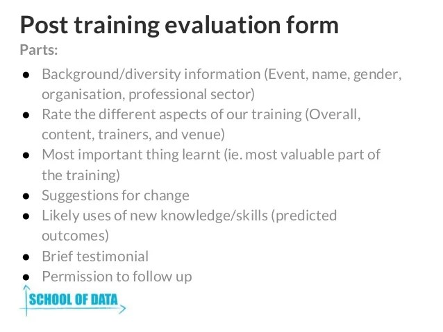 Training Evaluation Form Bd  Installation Instructions Sample