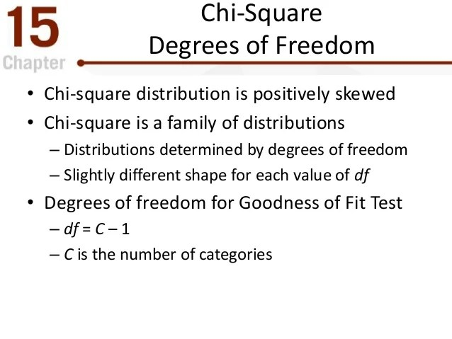 chi square test statistic