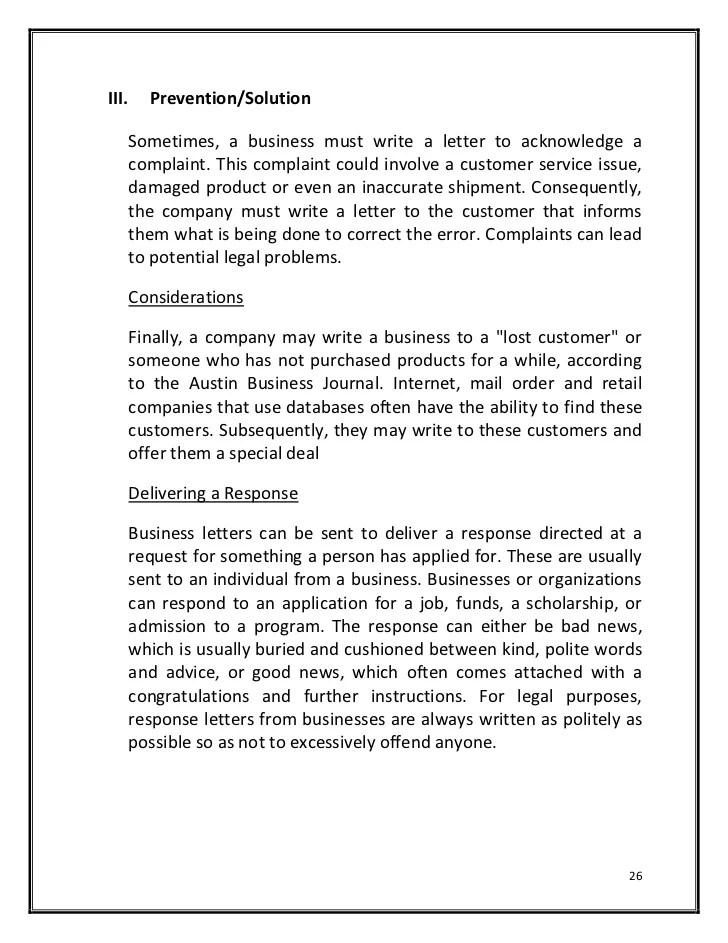 Complaint Letter Damaged Product – Product Complaint Letter Sample