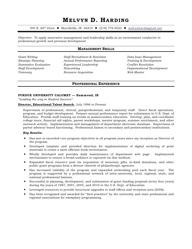 Functional Resume Ppt – Paraprofessional Resume Sample