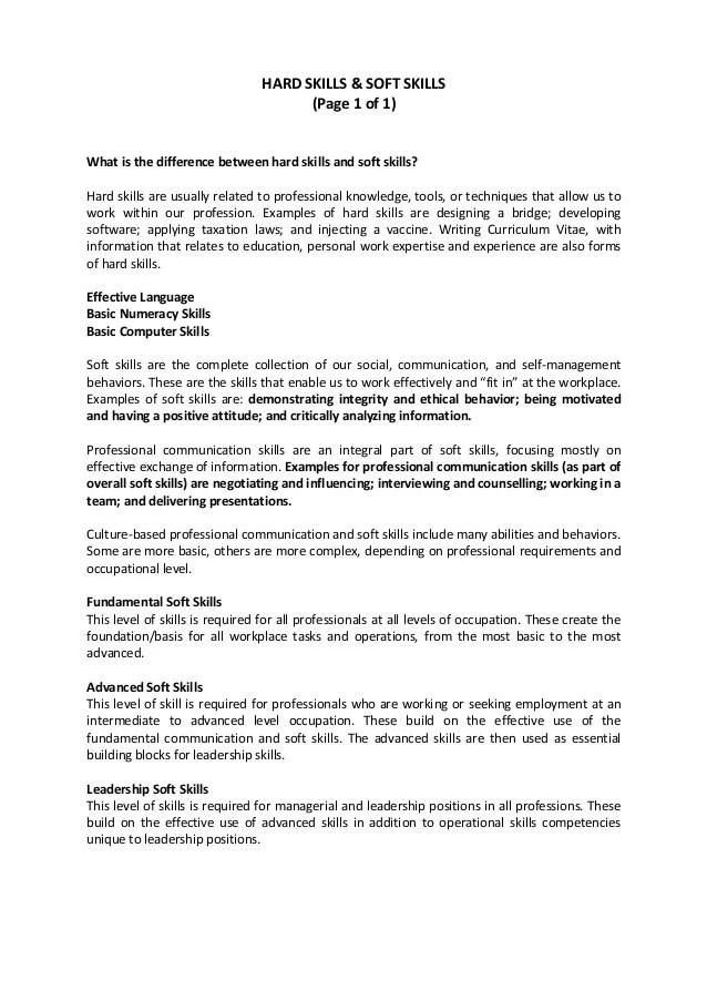 resume soft skills example - Vatozatozdevelopment - leadership skills resume example