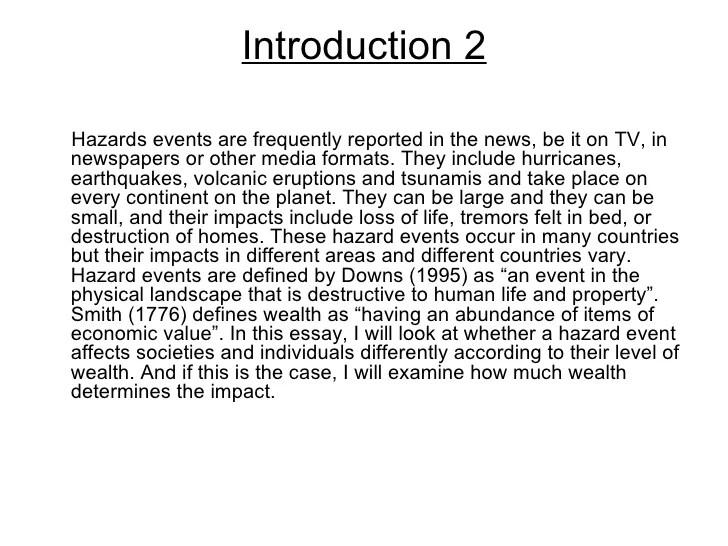 Hazards Essay Introduction