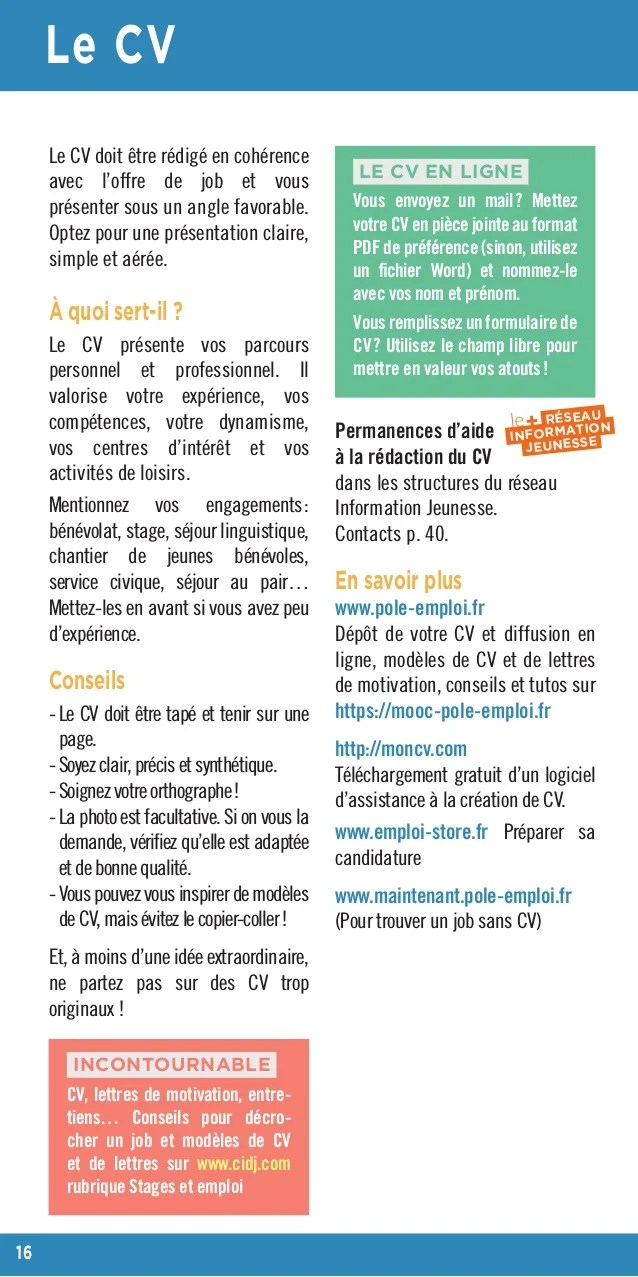 cv piece jointe pole emploi