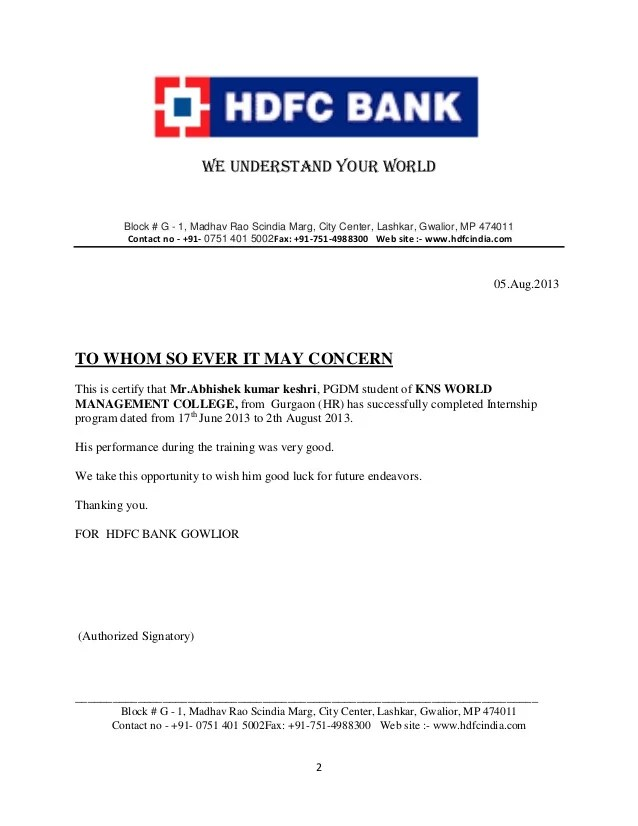 Hdfc Car Loan Approval Letter   future1story.com