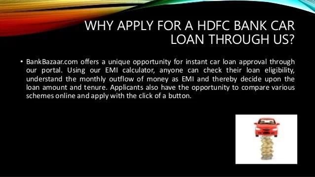 HDFC Bank Car Loan