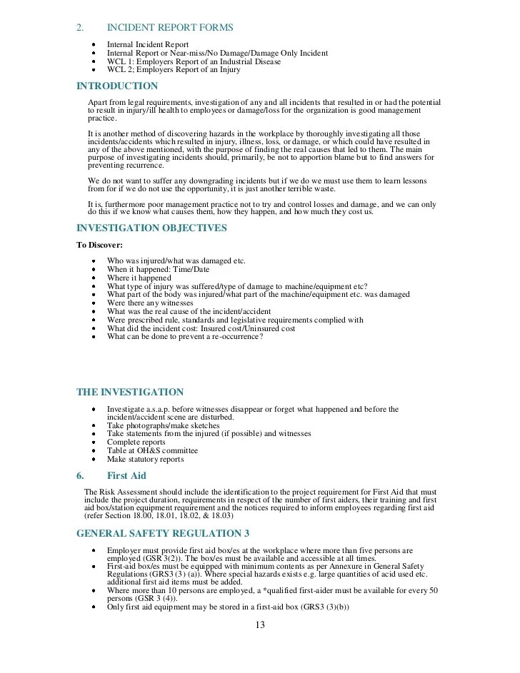 safety and health plan template - Alannoscrapleftbehind - safety plan template