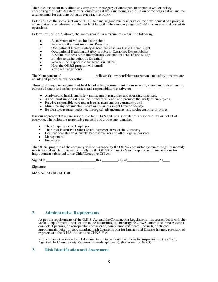 construction safety plan template - Minimfagency
