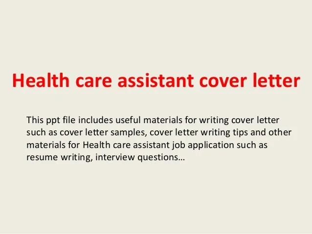 Best Healthcare Cover Letter Examples Livecareer Health Care Assistant Cover Letter