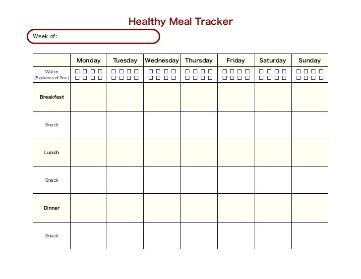 printable diet tracker - Towerssconstruction