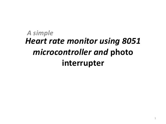 heart rate monitor using 8051