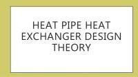 Heat Pipe Heat Exchanger Design Theory