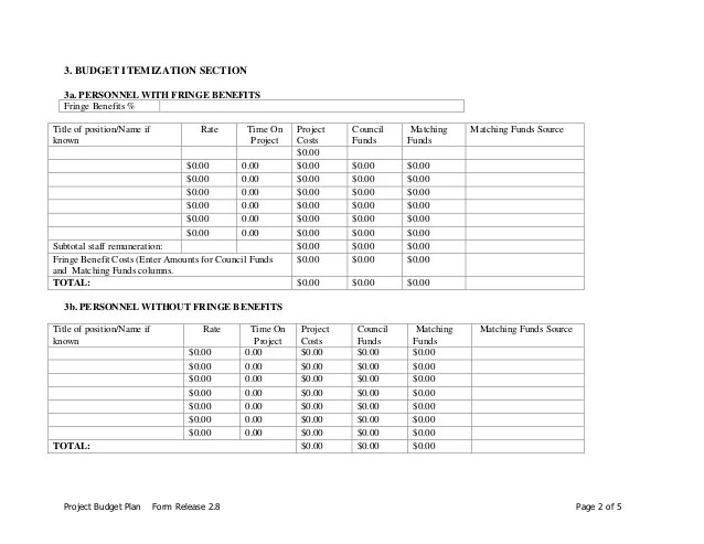 budget plan form - Josemulinohouse