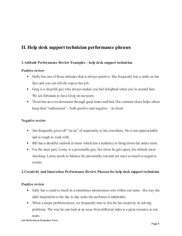 work performance review template - Josemulinohouse - work performance evaluation