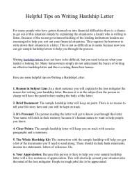 Helpful tips on writing hardship letter