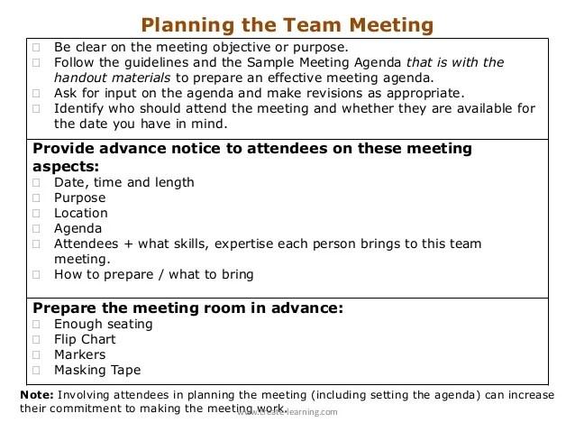 making a meeting agenda - Canasbergdorfbib