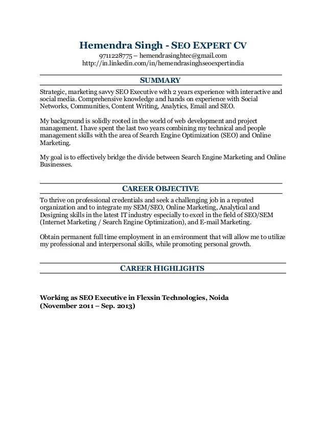sample resume to apply for ra